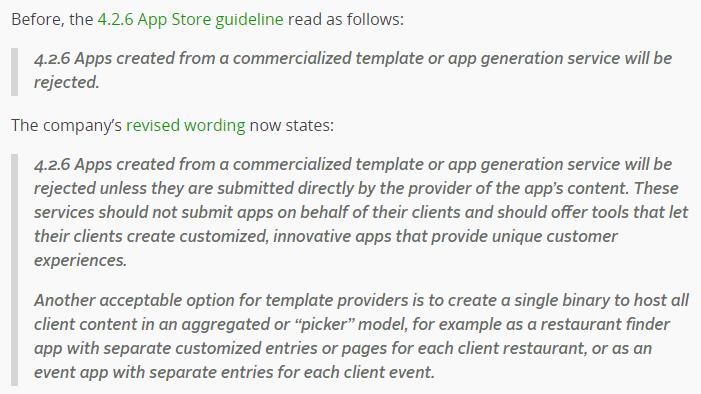 Good News!! Apple new publishing policies – Mobincube