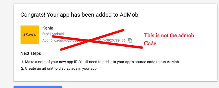 Create an Admob code for my app – Mobincube